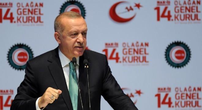 Cumhurbaşkanı Recep Tayyip Erdoğan, ATO Congresium'da düzenlenen HAK-İş 14'üncü Olağan Genel Kurulu Toplantısı'nda konuştu.