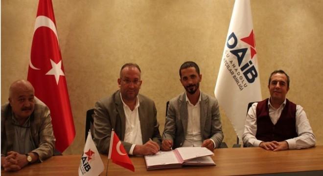 Doğu Anadolu İhracatçılar Birliği yeni hizmet binası yapım sözleşmesi Yönetim Kurulu Başkanı Ethem Tanrıver tarafından imzalandı.