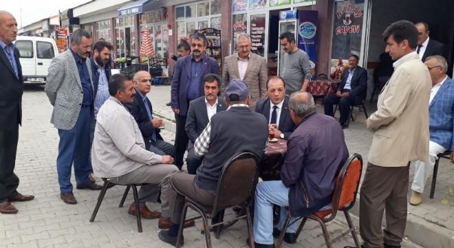 MHP Erzurum İl Başkanı Naim Karataş, Aziziye ilçesi, Ilıca mahallesinde yeni çarşı esnafını ziyaret etti