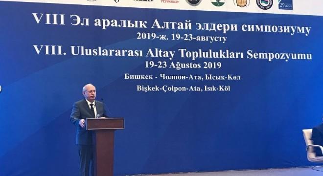 Atatürk Kültür, Dil ve Tarih Yüksek Kurumuna bağlı Türk Tarih Kurumunun desteğiyle Kırgızistan'ın başkenti Bişkek'te düzenlenen 'VIII. Altay Toplulukları Sempozyumu' 19 Ağustos'ta düzenlenen açılış töreni ile başladı.